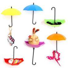 Крючки-держатели в виде зонтиков Umbrella Drop, 3 шт