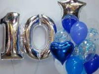 Цифры фольгированные 1 и 0 с шариками