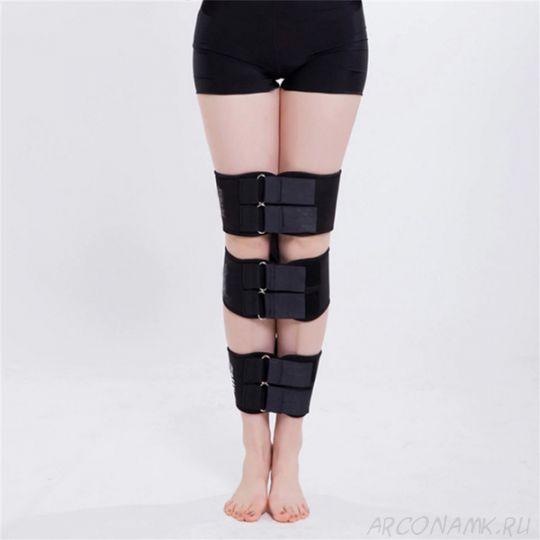 Коррекционные ремни для выпрямления ног O/X типа, Цвет: Чёрный
