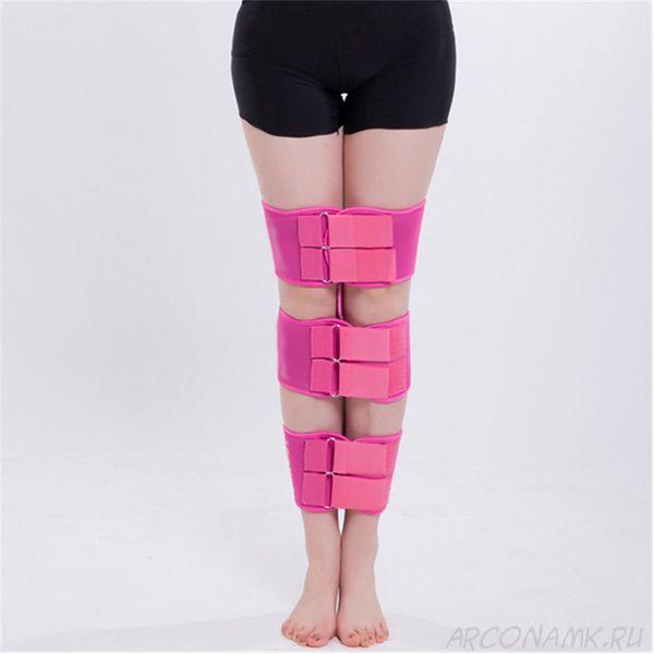 Коррекционные ремни для выпрямления ног O/X типа, Цвет: Розовый