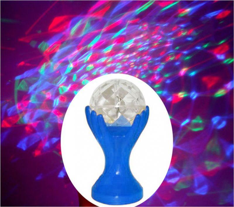 Декоративный Led-Светильник Шар В Руках, 18 См, Цвет Синий