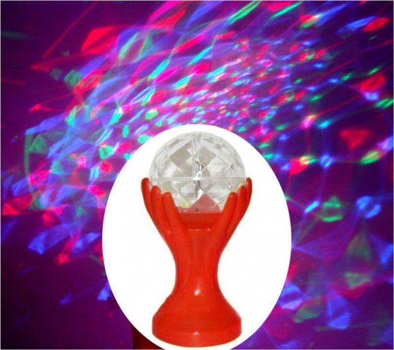 Декоративный Led-Светильник Шар В Руках, 18 См, Цвет Красный
