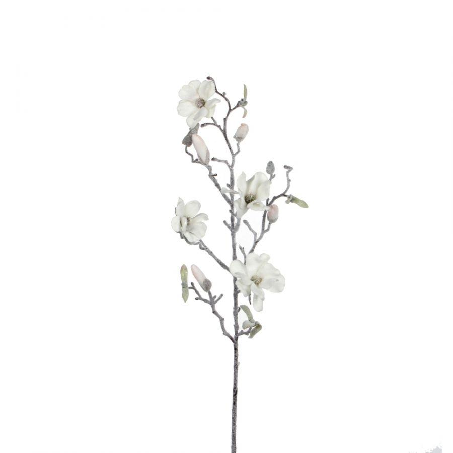 Веточка Магнолия белая 72 см