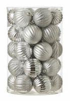 Нaбoр плacтикoвых шaров 34шт ?7cм серебро