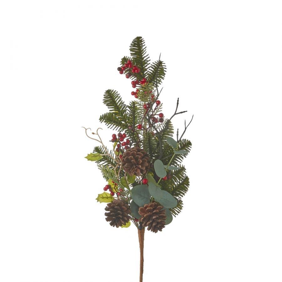 Веточка с ягодами 73*30*10 см зеленая