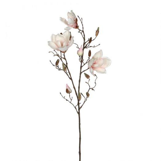 Веточка Магнолия светло-розовая 88 см