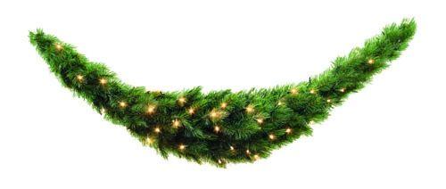 Триумф сваг Лесная Красавица 180*36 см 96 ламп зеленая