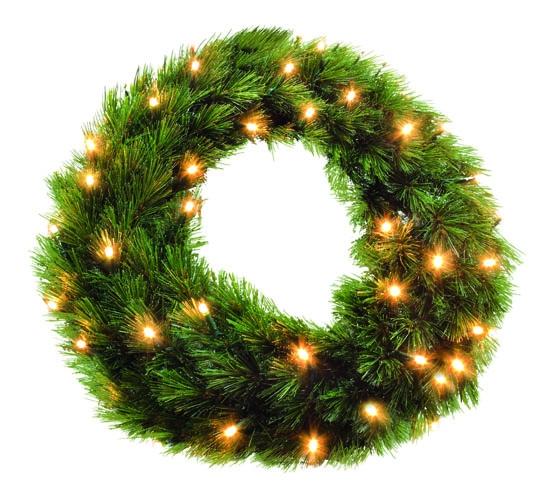 Триумф венок Лесная Красавица 90 см 96 лампы зеленая