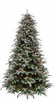 Искусственная елка Нормандия Пушистая 155 см 136 ламп заснеженная - Купить