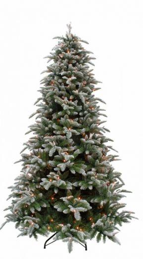 Искусственная елка Нормандия Пушистая 155 см 136 ламп заснеженная