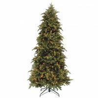 Искусственная елка Нормандия стройная 155 см 136 ламп темно-зеленая