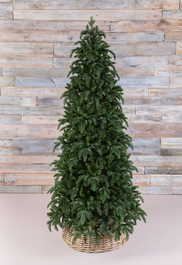 Искусственная елка Нормандия стройная 215 см темно-зеленая