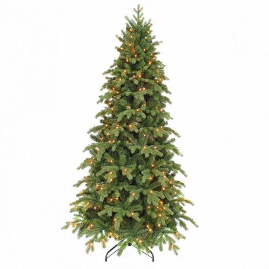 Искусственная елка Шервуд премиум стройная 215 см 248 ламп зеленая