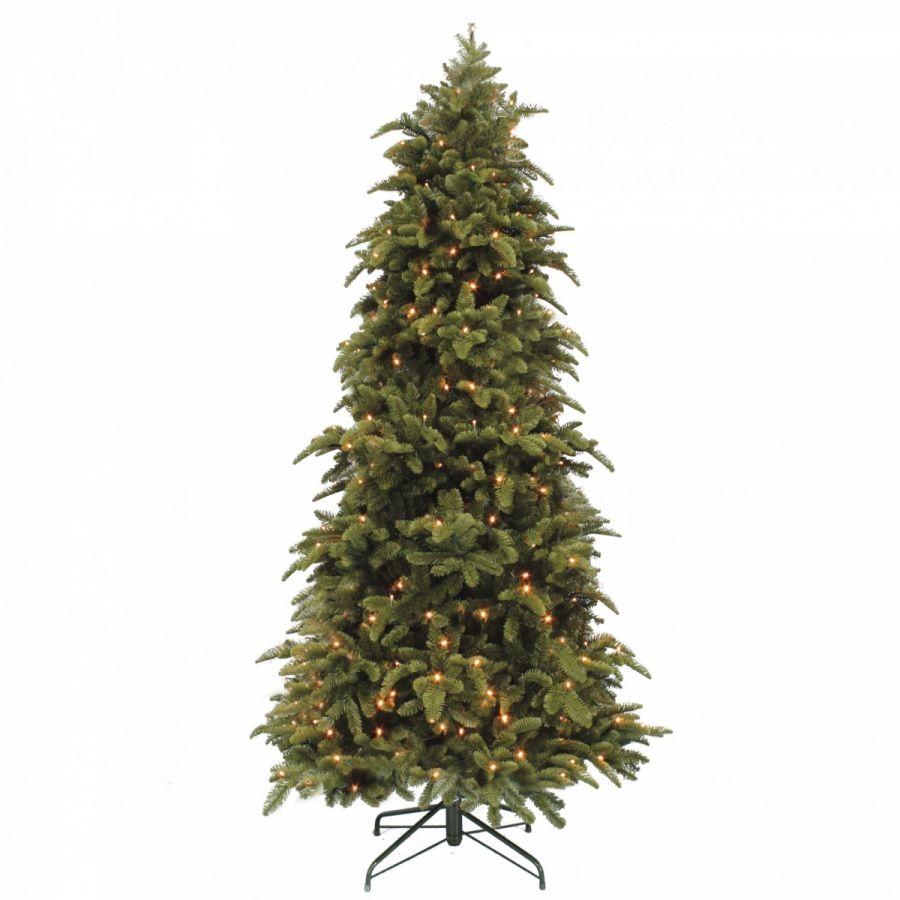 Искусственная елка Нормандия стройная 215 см 248 ламп темно-зеленая