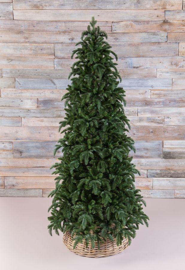 Искусственная елка Нормандия стройная 260 см темно-зеленая