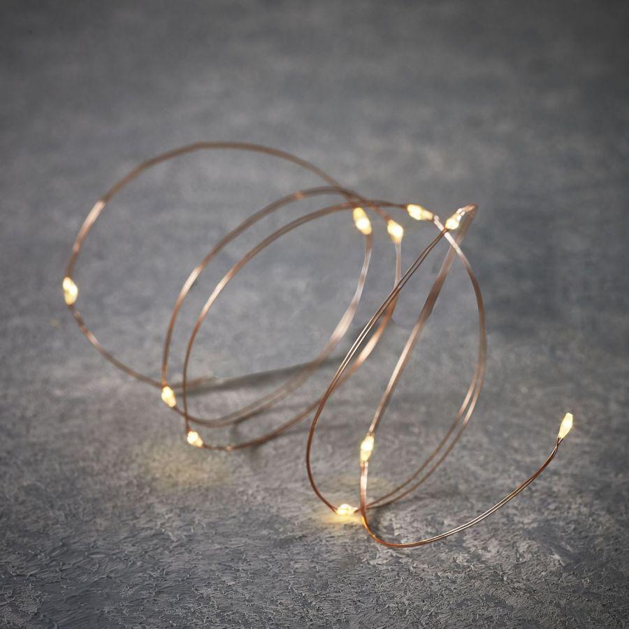 Гирлянда на медном проводе 20 LED