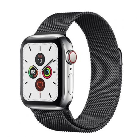 Apple Watch Series 5 Stainless Steel Case 44mm GPS + Cellular Space Black with Milanese Loop
