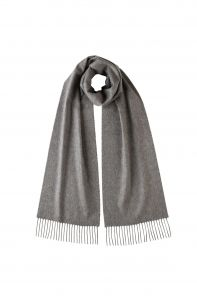 Однотонный кашемировый шарф (100% драгоценный кашемир), цвет Гранит GRANITE CLASSIC cashmere, высокая плотность 7