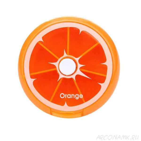 Автоматическая таблетница с 7-ю отделениями, Цвет: Апельсин
