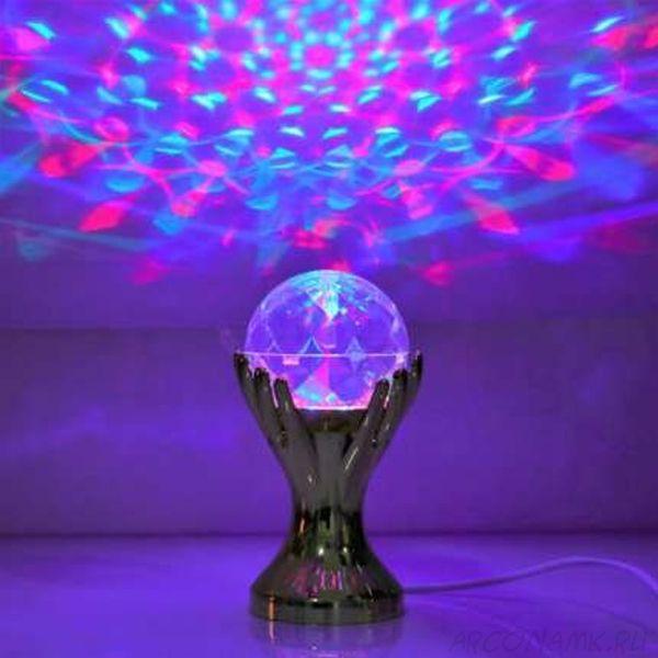 Декоративный LED-светильник Шар В Руках, 18 см