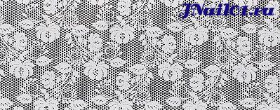 Фольга Белое кружево 6
