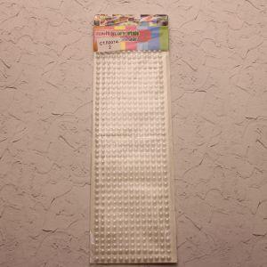 Стразы(бусины) клеевые на листе 9*25см (1уп = 5шт), Арт. СТЛ0014-2