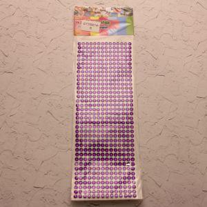 Стразы(бусины) клеевые на листе 9*25см (1уп = 5шт), Арт. СТЛ0014-5