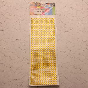 `Стразы(бусины) клеевые на листе 9*25см, Арт. Р-СТЛ0014-7