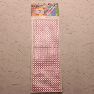 `Стразы(бусины) клеевые на листе 9*25см, Арт. Р-СТЛ0014-12