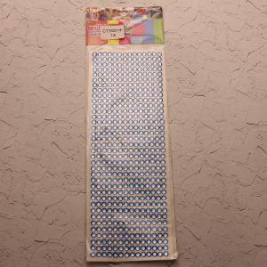 `Стразы(бусины) клеевые на листе 9*25см, Арт. Р-СТЛ0014-14