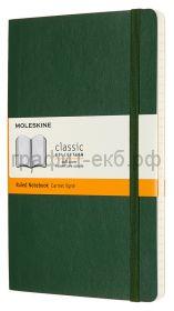 Книжка зап.Moleskine Large Soft Classic пунктир зеленая QP616K15