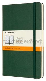Книжка зап.Moleskine Large Classic линейка зеленая QP060K15