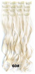 Искусственные волнистые термостойкие волосы на заколках №060 (55 см) - 7 прядей, 100 гр.