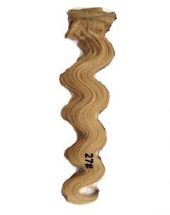 Искусственные волнистые термостойкие волосы на заколках №027 (55 см) - 12 заколок, 130 гр.