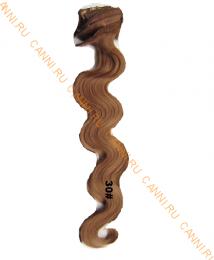 Искусственные волнистые термостойкие волосы на заколках №030 (55 см) - 12 заколок, 130 гр.