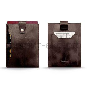 Чехол для карт Феникс+ вытяжной ремешок коричневый 50402