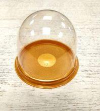Купол прозрачный с золотым дном