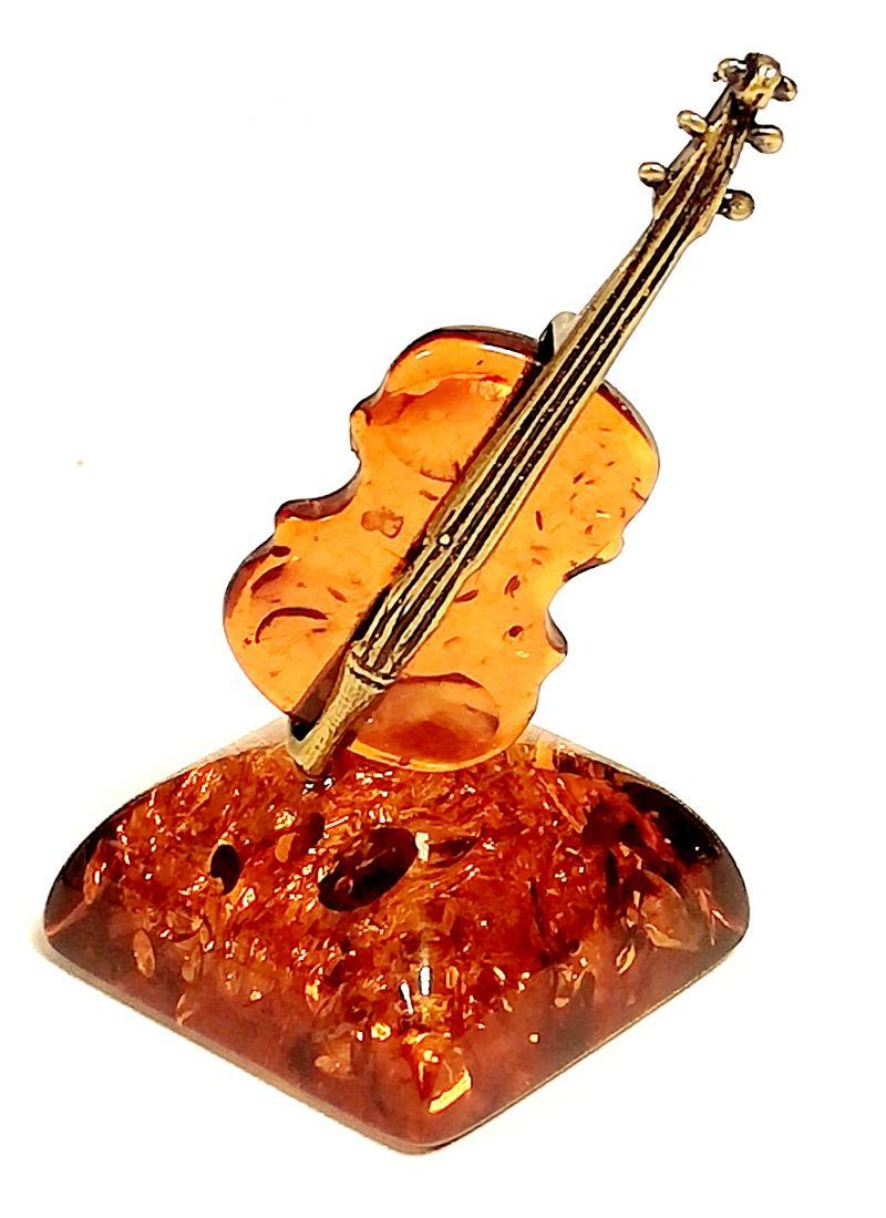 Фигурка Скрипка на янтаре