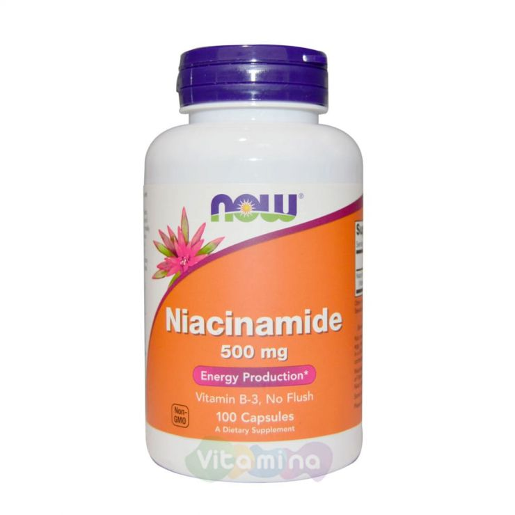 Ниацинамид 500 мг, 100 капсул