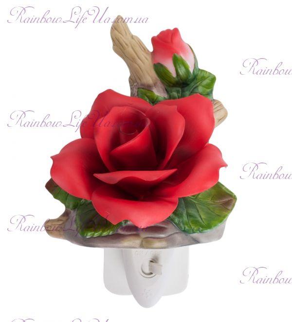 """Светильник красная роза """"Pavone"""""""