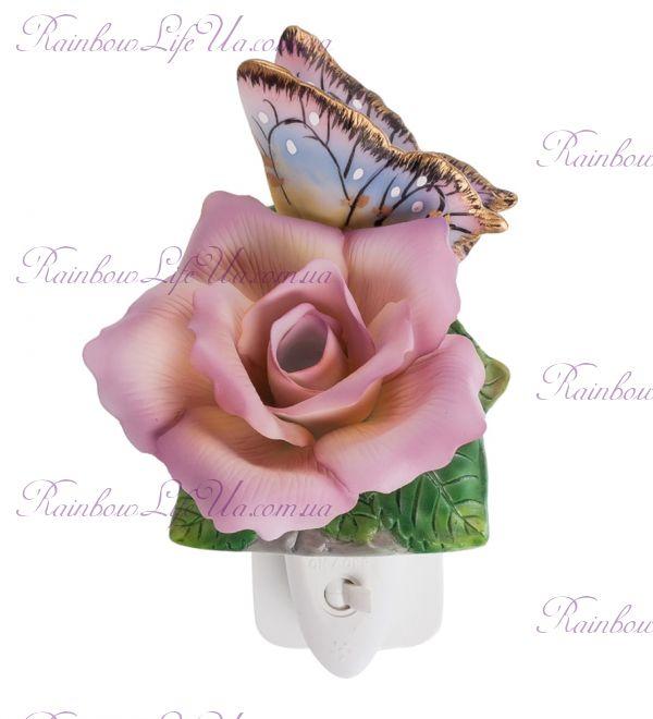 "Светильник роза и бабочка ""Pavone"""
