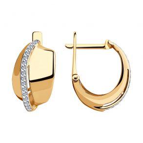 Серьги из золота с фианитами 028471 SOKOLOV