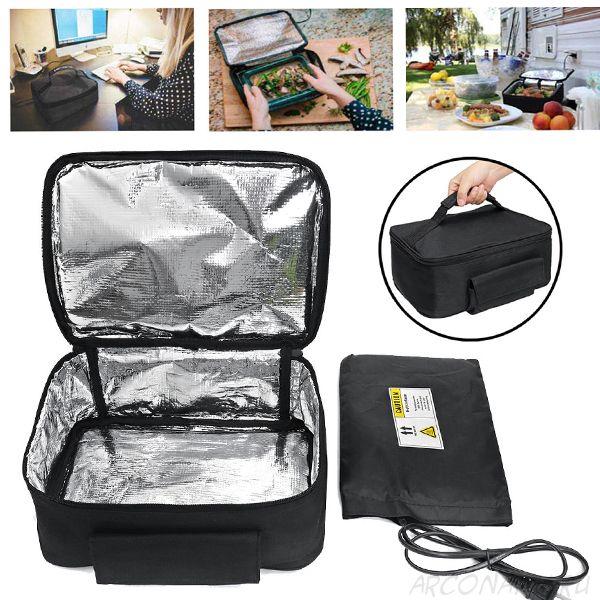 Термосумка для подогрева еды Personal Portable Oven, Цвет: Чёрный