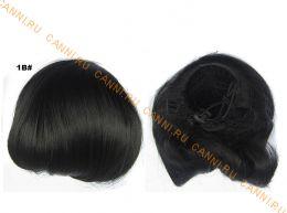 """Искусственные термостойкие волосы - Шиньон """"Бабетта"""" #001В, вес 80 гр"""