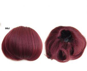 """Искусственные термостойкие волосы - Шиньон """"Бабетта"""" #99J, вес 80 гр"""