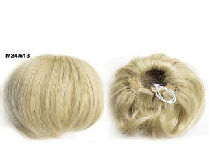 """Искусственные термостойкие волосы - Шиньон """"Бабетта"""" #M24/613, вес 80 гр"""