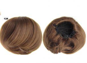 """Искусственные термостойкие волосы - Шиньон """"Бабетта"""" #012, вес 80 гр"""