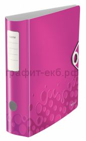 Файл А4 8см Esselte Leitz WOW розовый металлик 11060023