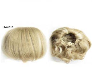 """Искусственные термостойкие волосы - Шиньон """"Бабетта"""" #24H613, вес 80 гр"""