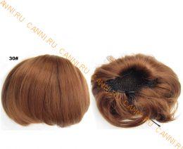 """Искусственные термостойкие волосы - Шиньон """"Бабетта"""" #030, вес 80 гр"""